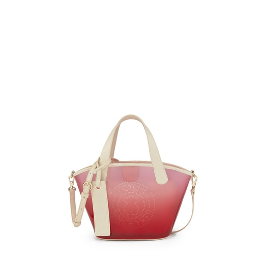 Small red Leissa Gum Shopping bag