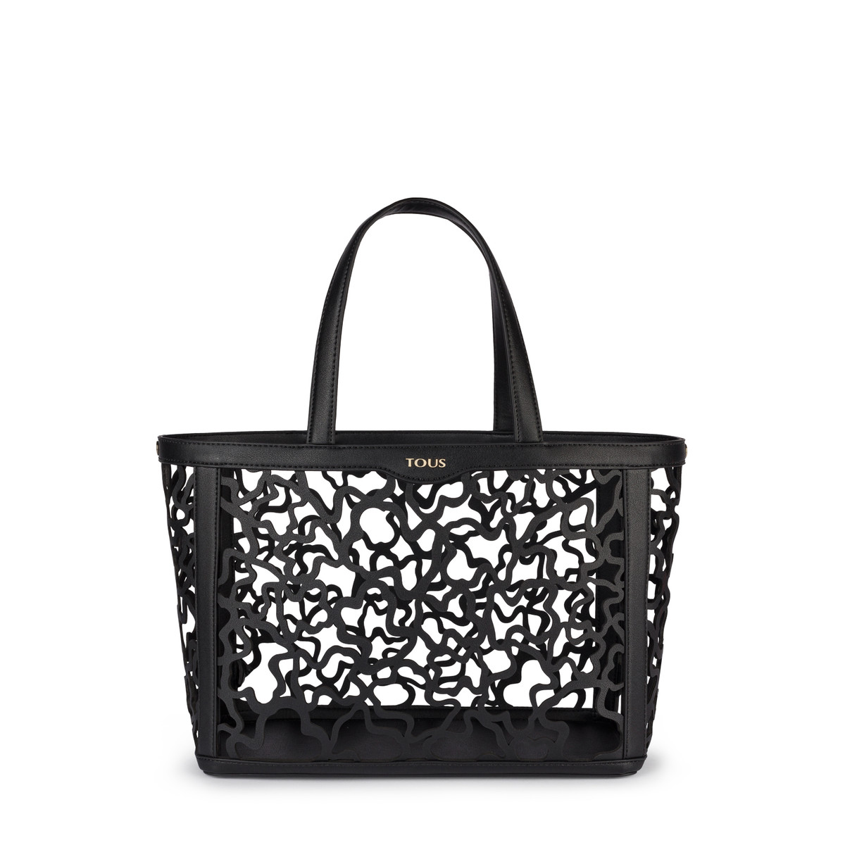 310634e270 Medium black colored Kaos Shock Tote bag - Tous Site US
