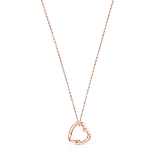 Hold heart Necklace in Rose Vermeil
