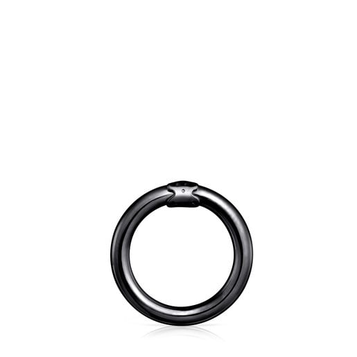 Medium Dark Silver Hold Ring