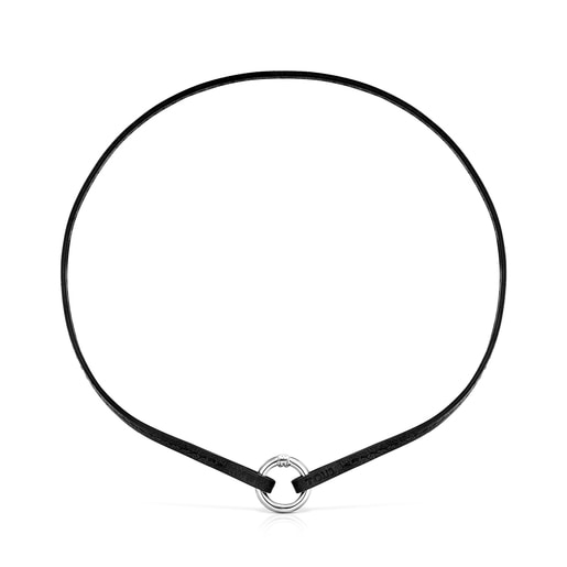 Hold Bracelet and Choker pack in black Leather