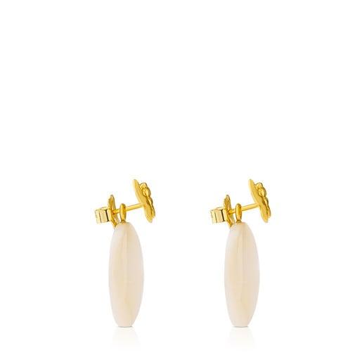 Boucles d'oreilles Bera Papillon en Or avec Nacre