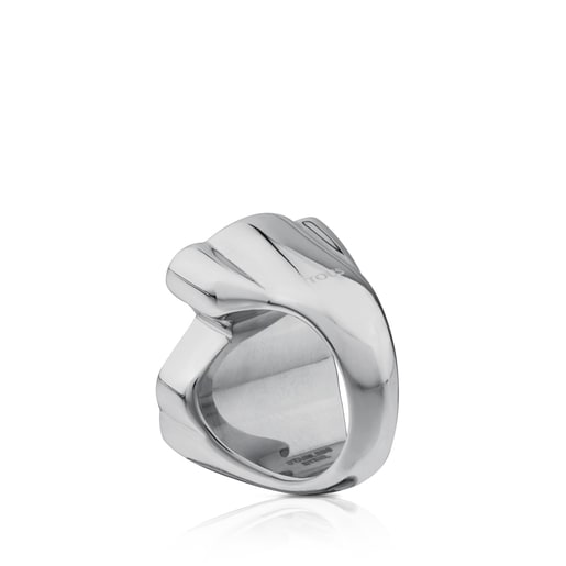 Stainless steel Face Ring with Enamel