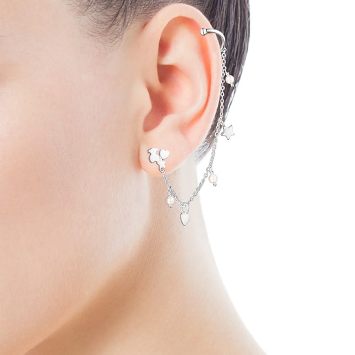 Silver and Pearls Cool Joy Earcuff
