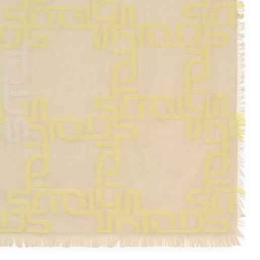 Κίτρινο Φουλάρι Logogram Jacquard