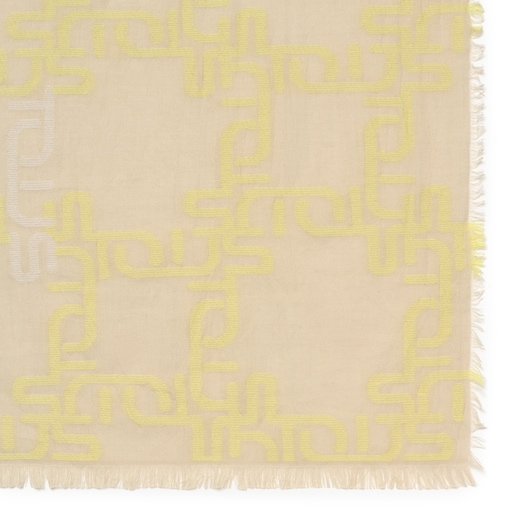 Logogram Jacquard Yellow Foulard