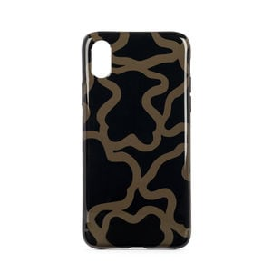 Funda de móvil iPhone X Kaos en color negro-camel