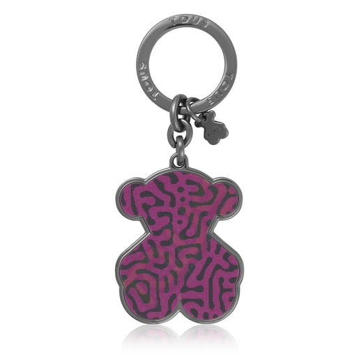 Pink and blue Oso Lene Leo Key ring