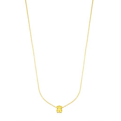 Gold Sweet Dolls Necklace Bear motif