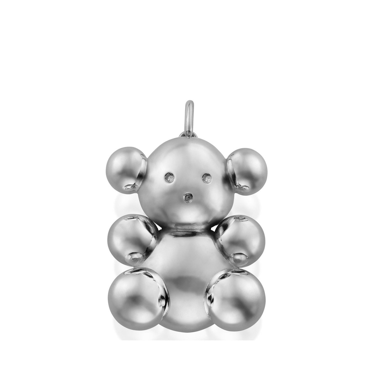 Silver Bubble Bear Pendant