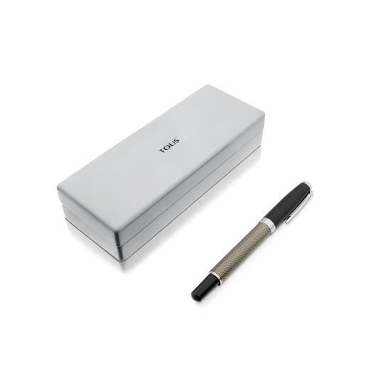 Bolígrafo de acero cromado negro TOUS Writing