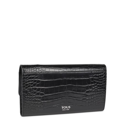 Medium black and white Audree Wild Wallet