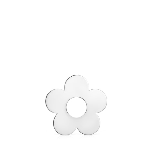 Dije pequeño Hold Metal flor de Plata