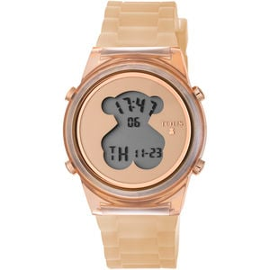 Polycarbonate D-Bear Watch with nude Silicone strap