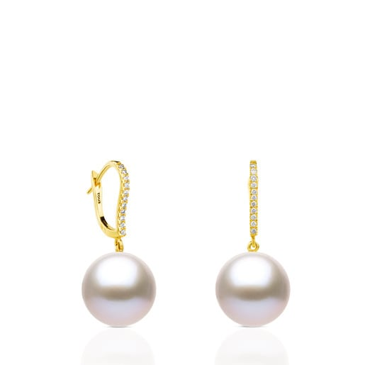 Pendientes ATELIER Novias de Oro con Perlas y Diamantes