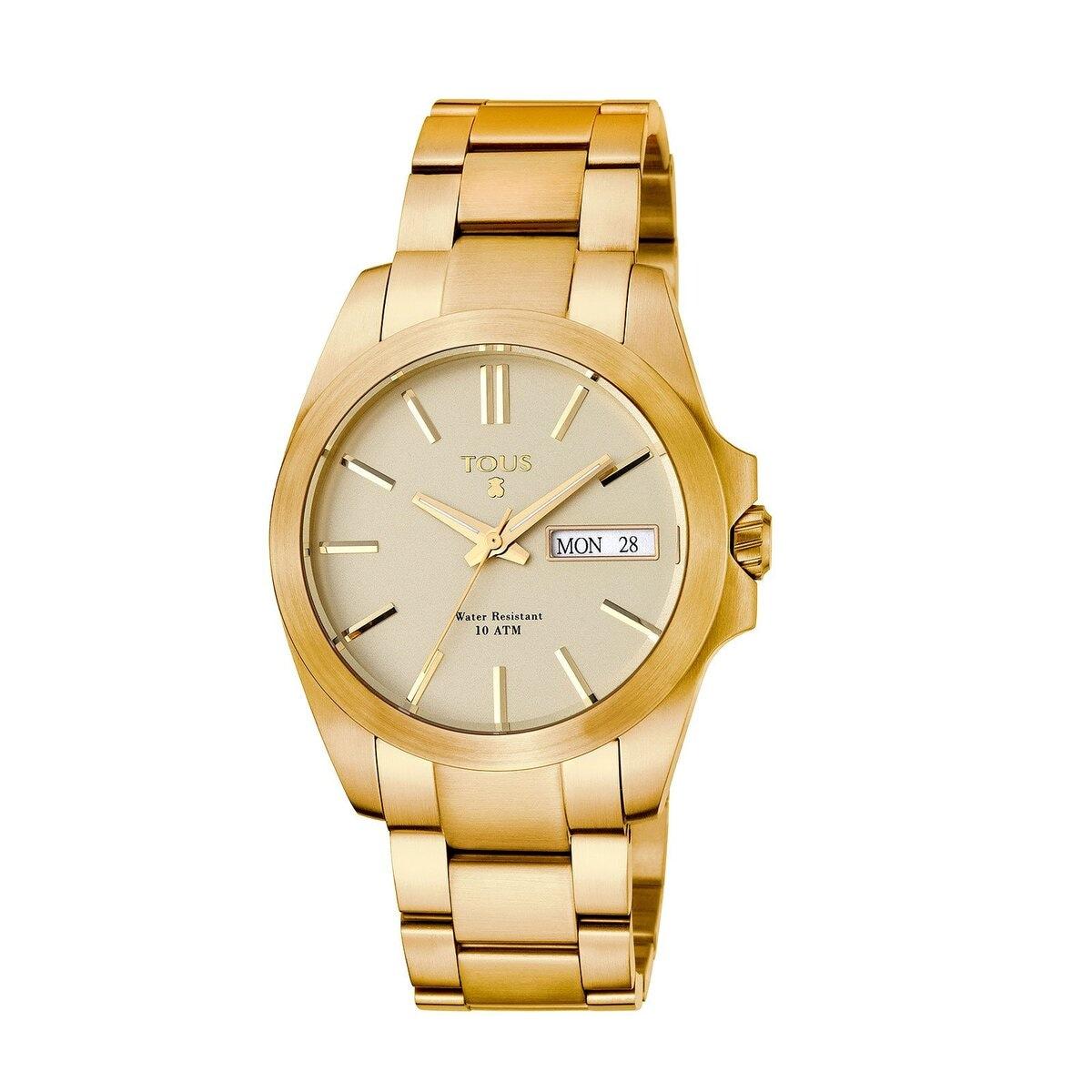 Gold IP Steel Drive Matt Watch