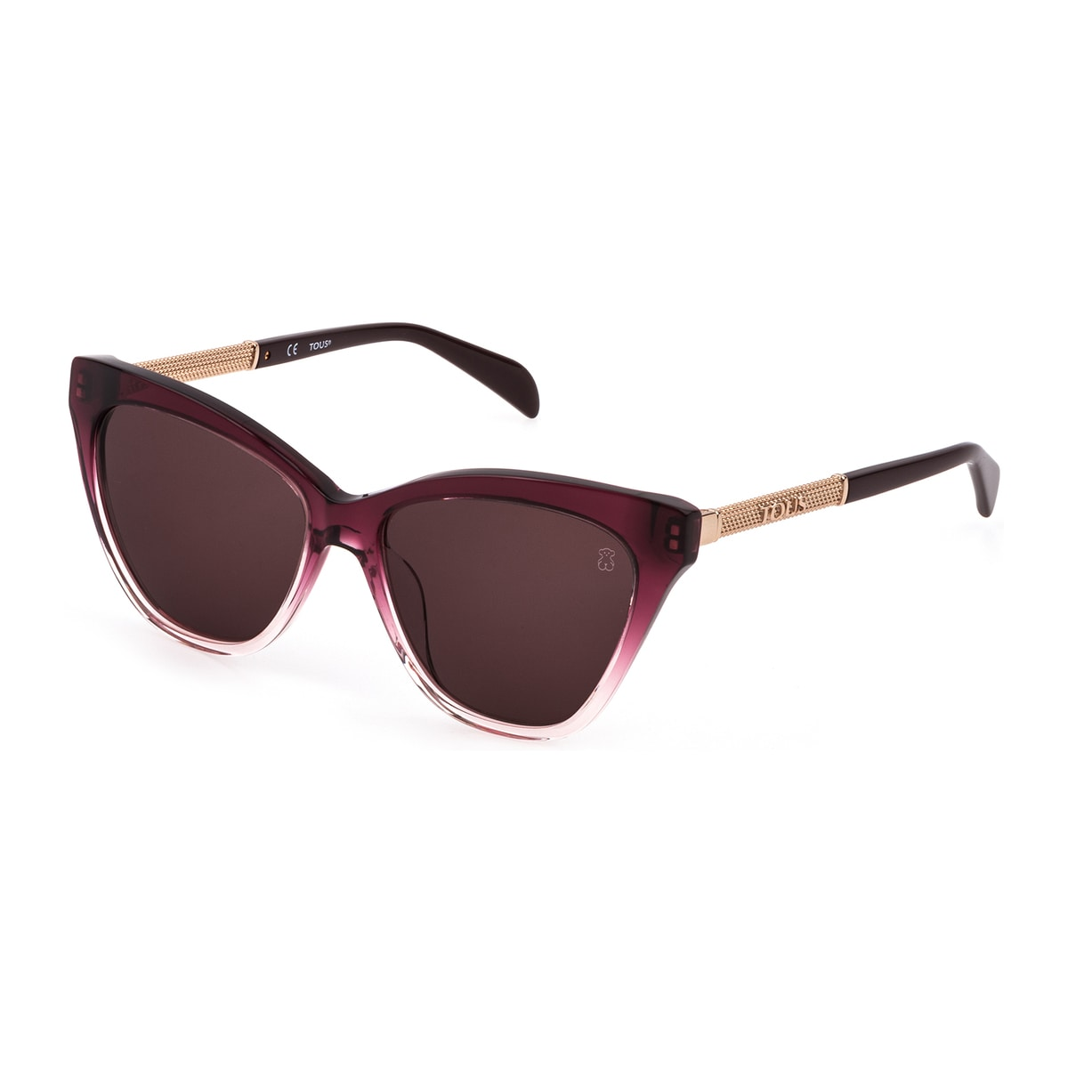 Burgundy Colored Mesh Sunglasses