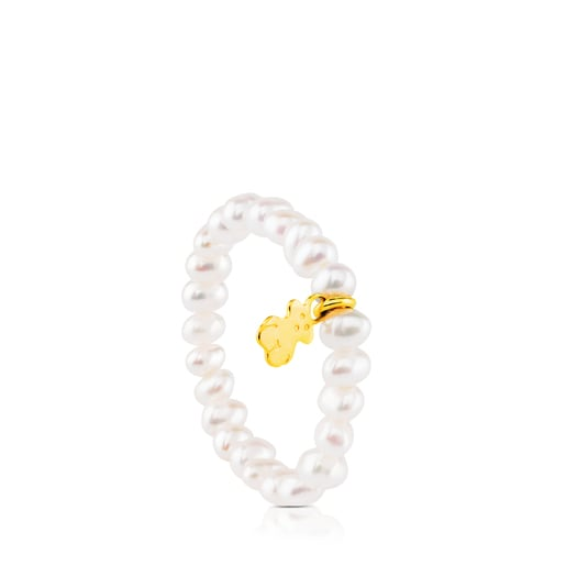 Gold TOUS Pearls Ring