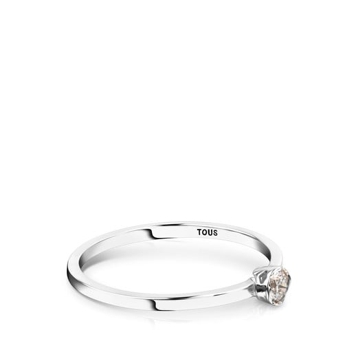 White gold and Diamonds Boca Osos Ring