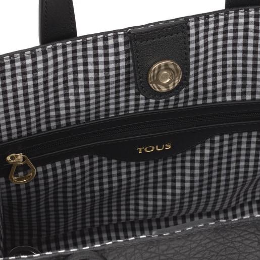 Mittelgroße Shopping-Tasche Amaya Aviator in Schwarz