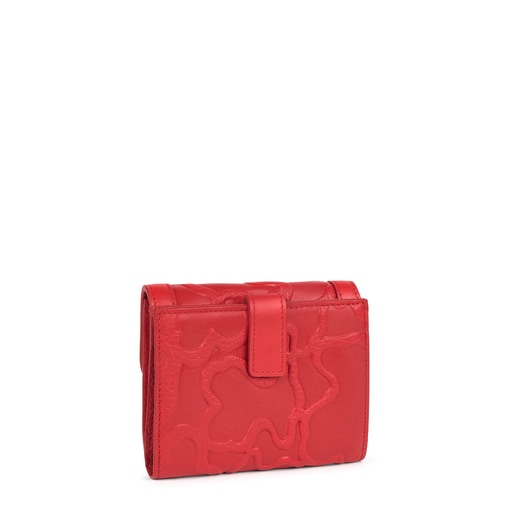 Small red leather Tous LOVE Icon wallet