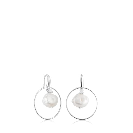 Silver Verona Earrings with Pearl