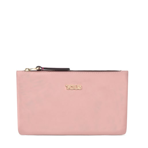 Flat pink Shelby Toiletry bag