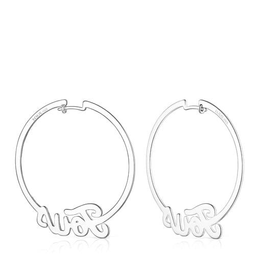 Ohrringe TOUS Logo aus Silber