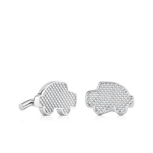 Stainless Steel Mesh Cufflinks
