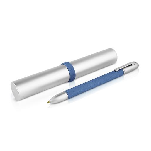 Bolígrafo de aluminio y silicona azul TOUS Writing