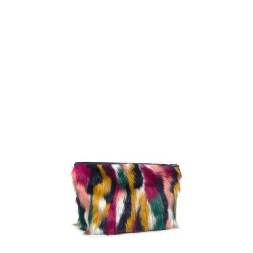 Kleine, mehrfarbige Handtasche Kaos Shock Fur