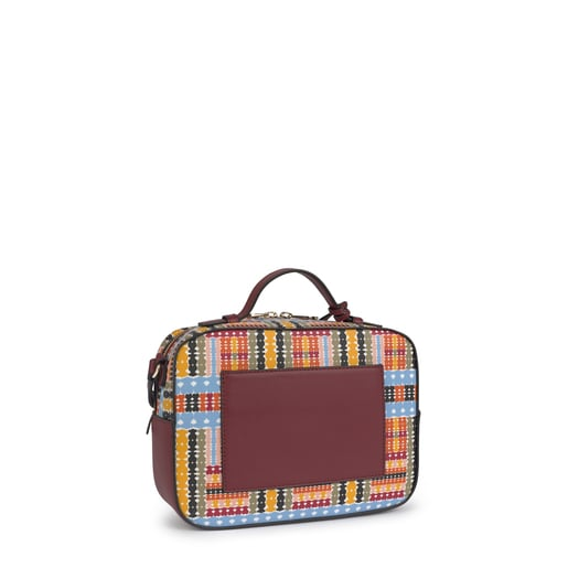 Medium multi-burgundy Alicya Crossbody bag with handle