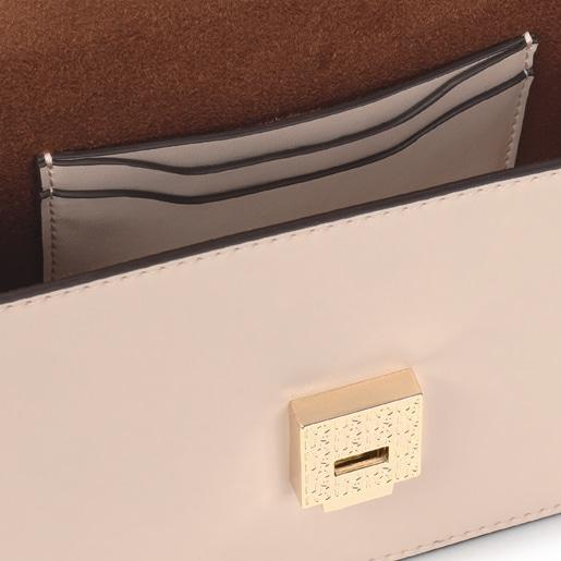 Small beige Audree Sketx crossbody bag