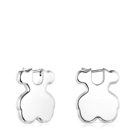 Short Silver Sweet Dolls bear earrings