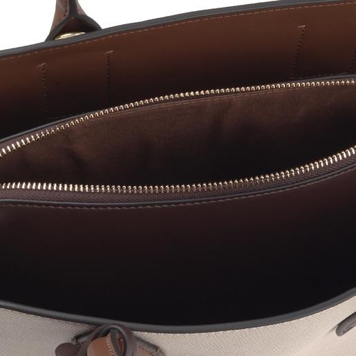 Medium beige and brown TOUS Essential City bag
