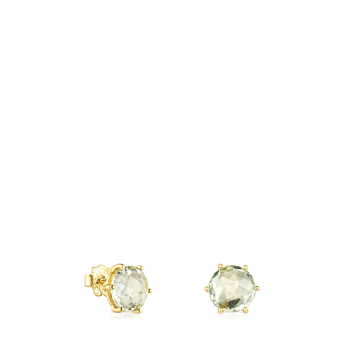 Ohrringe Ivette aus Gold mit Prasiolith