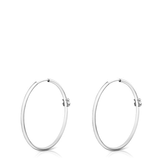 Large Silver Super Power Earrings with Ceramic