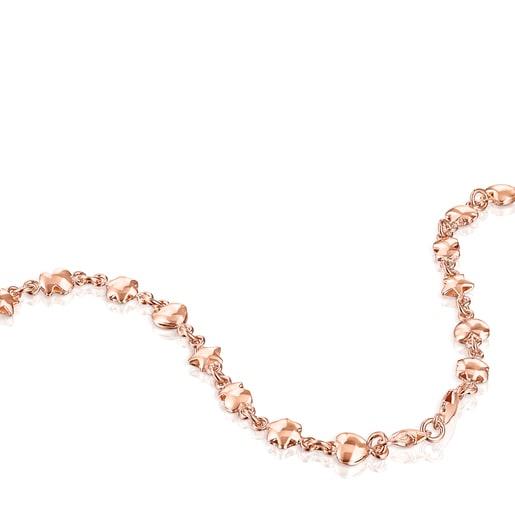 Κολιέ Mini Icons από Ροζ Ασήμι Vermeil