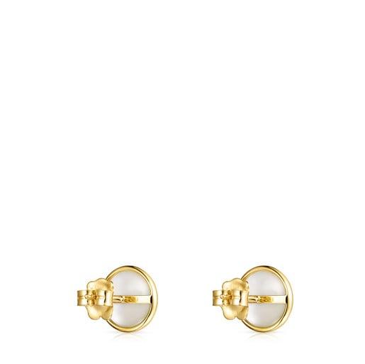 Aretes pequeños Avalon de Oro y Perla
