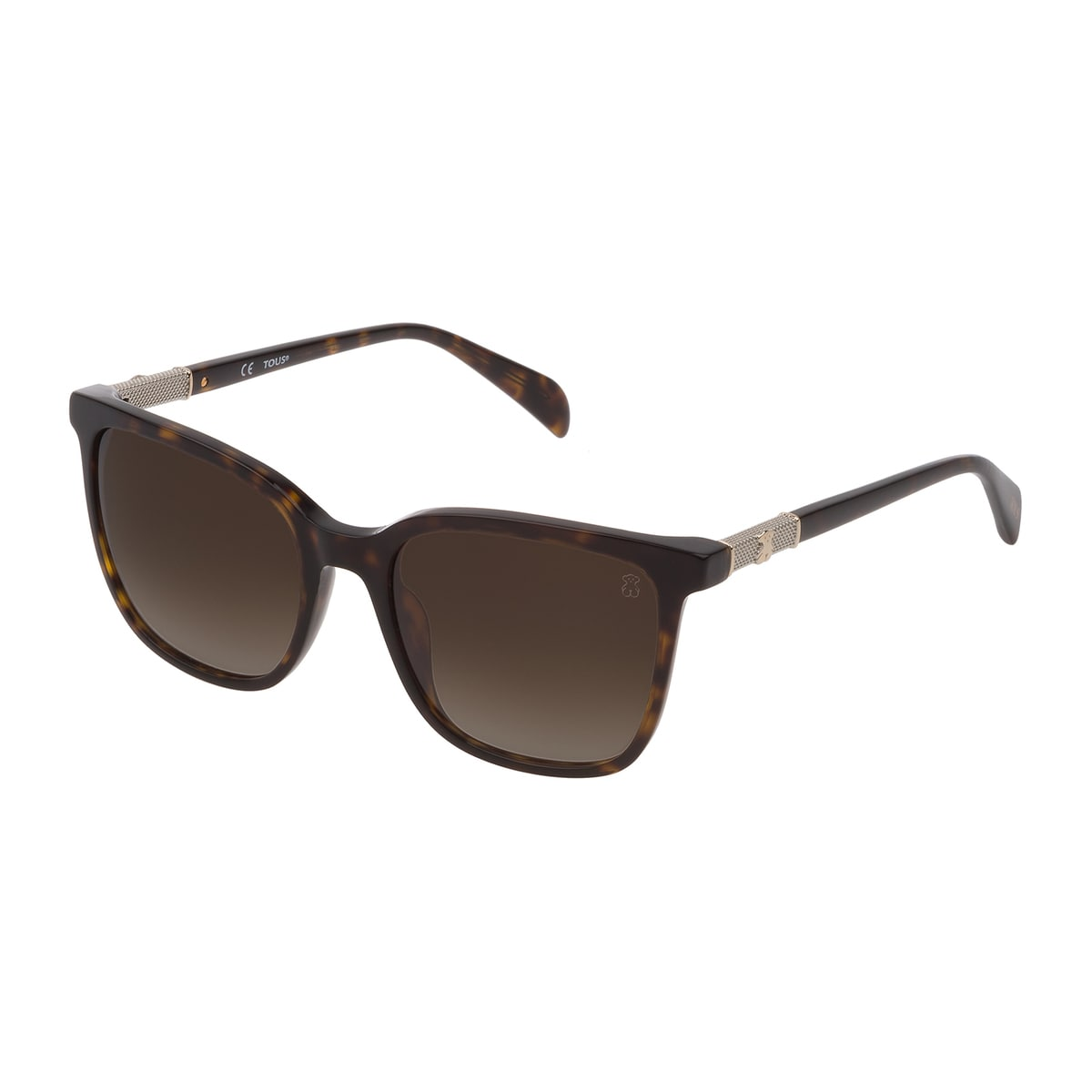 Brown Acetate Mesh Sunglasses