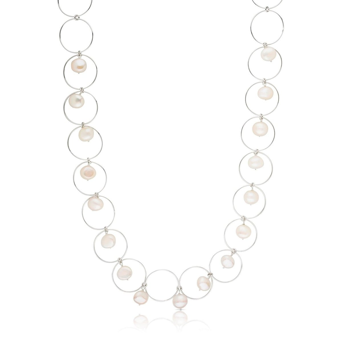 Silver Verona Necklace with Pearl