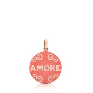Rose Vermeil Silver Tanuca Pendant with Rose Enamel