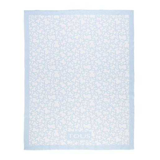 Reversible Sky blue Kaos blanket