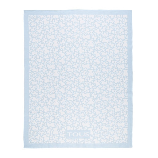 Kaos reversible blanket in Sky Blue