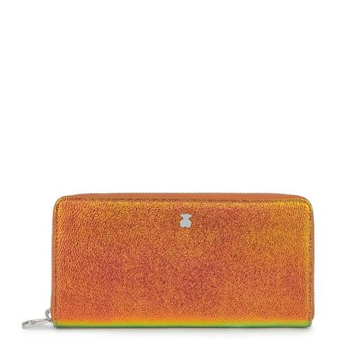 Medium Iridescent Orange Dorp Wallet