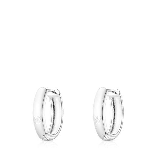 Oval Silver TOUS Basics Earrings