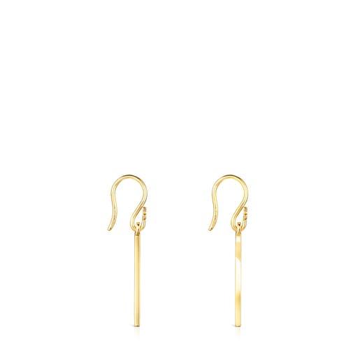 Short Silver Vermeil TOUS Good Vibes cornucopia Earrings
