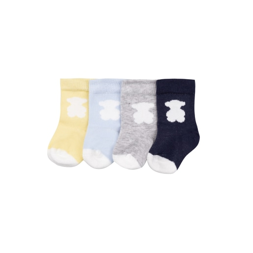 Pack 4 calcetines Sweet Socks Azul Celeste
