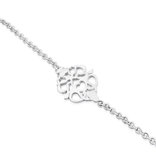 Silver Motif Power Bracelet