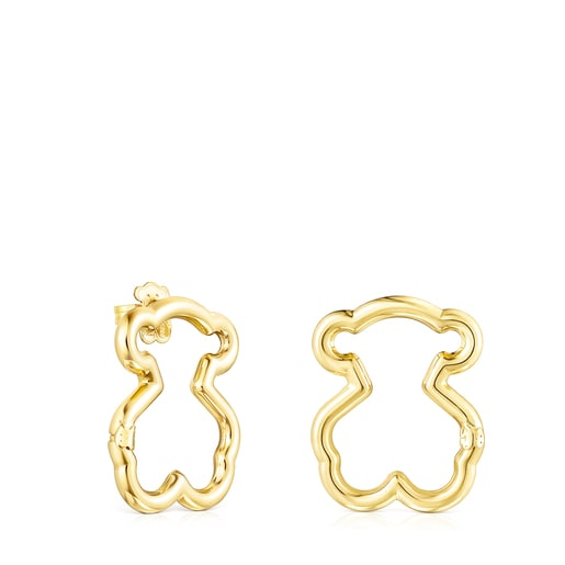 Medium Hold Vermeil Bear Earrings